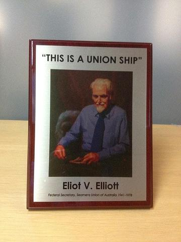 Union Ship Plaque