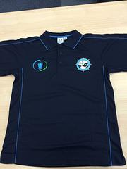 SA Branch Polo - Blue - Biz Collection Navy Blue Polo with ITF and SA Branch logo on front