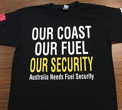 Our Coast Our Fuel Our Security - Support campaign for Australian Fuel Security Plan.$10 from each shirt will help fight to save Australian Crewed Tankers.Shirts are not Australian Made due to time restraints.