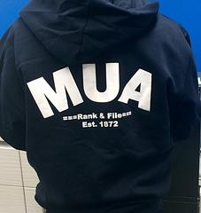 MUA Rank & File Zip Hoodies - MUA Rank & File Zip Hoodies – Australian MadeThese hoodies are a large fit, suggest you order smaller sizes.