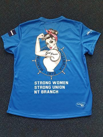 NT MUA Womens Shirts - Blue
