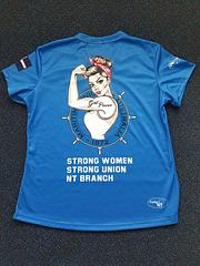 NT MUA Womens Shirts - Blue - NT MUA Womens Shirts – BlueStrong Women!Strong Union!Australian MadeLocally printed in the NT