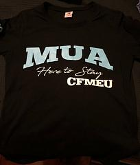 MUA HERE TO STAY - CFMEU - 2018 MUA – CFMEU T-Shirt