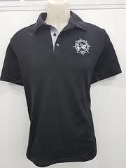 MUA POLO - Represent the MUA at those fancy pubs with this smart casual MUA polo!Black polo with silver embroidered MUA wheelProudly Australian madePolyester/Cotton