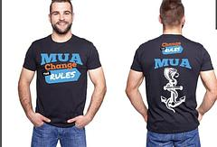 Change the Rules MUA T-Shirt - Limited Edition Change the Rules MUA T-ShirtBase colour is a dark blue.Please note that current stock may vary slightly in base colour (blue).